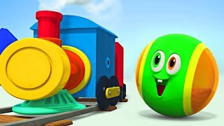 WonderBalls In Colorful Train | Funny SQUISHY Cartoon For Kids |  Cartoon Candy