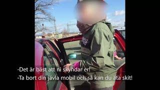 Här konfronterar hon bensintjuvarna - och filmar allt - Nyheterna (TV4)