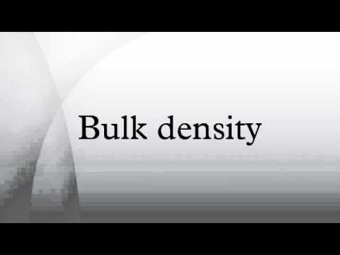 Bulk density