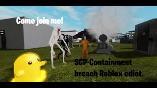 Making an SCP-containment breach game for roblox [developer stream]