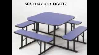Cafeteria Seating, Break Room Seating, Lunch Tables, 1950's Style!