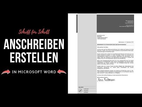 Professionelle Bewerbung - Anschreiben [modern, Kreativ] In Microsoft Word Erstellen - Tutorial