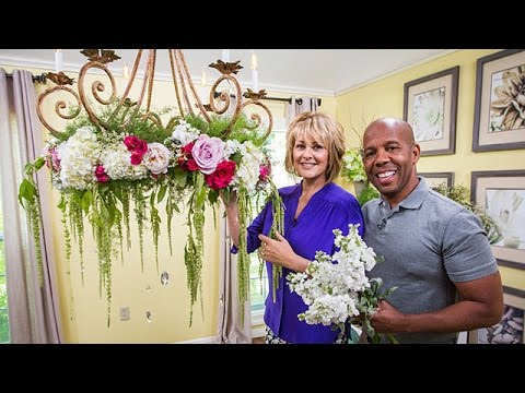 Ken cristinas diy flower chandelier youtube ken cristinas diy flower chandelier aloadofball Image collections