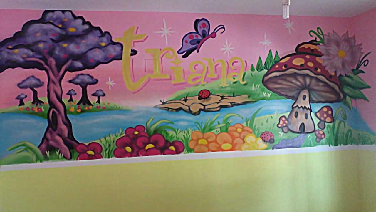 Murales infantiles graffiti profesional