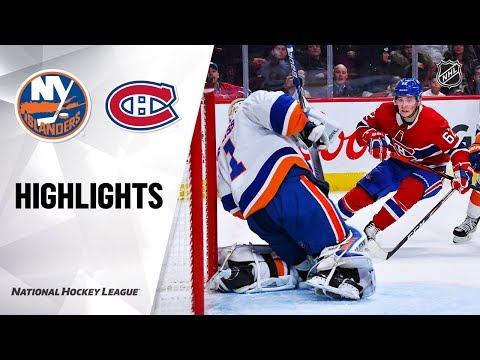 NHL Highlights | Islanders @ Canadiens 12/3/19
