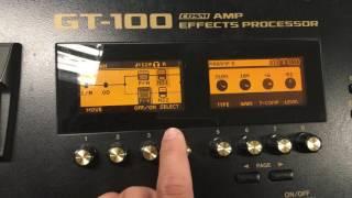Boss GT100 - Cách chỉnh tiếng solo ngân dài