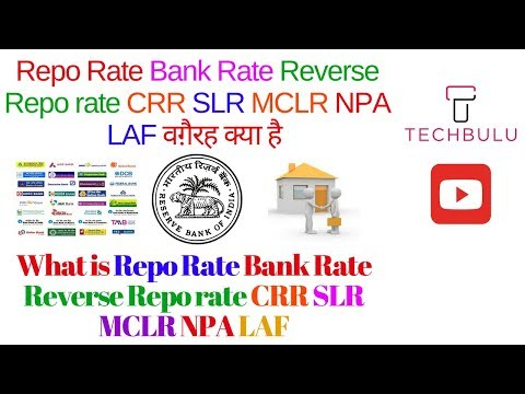What is Repo Rate, Reverse repo rate,CRR,SLR,MCLR,NPA,LAF and Bank Rate-Explained-Easily-Hindi