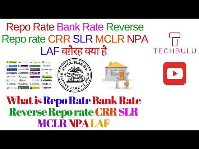 What Is Repo Rate Reverse Repo Ratecrrslrmclrnpalaf And Bank