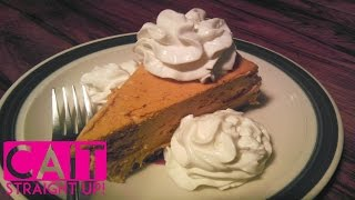 No Bake Pumpkin Cheesecake: Cinnamon Cream Topping | Cait Straight Up
