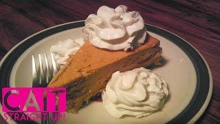 No Bake Pumpkin Cheesecake: Cinnamon Cream Topping | Cait Straight Up