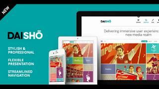 WordPress шаблон Daisho - гибкая тема портфолио. Версия 3.1