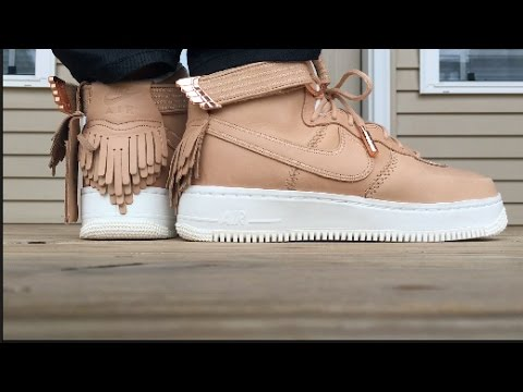 4700dcc80052 NIKE AIR FORCE 1 HIGH SPORT LUXURY ON FOOT LOOK!!! - YouTube