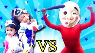 牛乳早飲み対決!!ひょっとこヨクバールvs魔法使いプリキュア♡ おもちゃ ごっこ遊び himawari-CH thumbnail