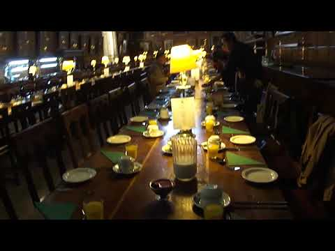 Breakfast in the Great Hall of Christ Church, Oxford