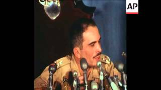 SYND 18-6-70 KING HUSSEIN HOLDS PRESS CONFERENCE IN AMMAN PALACE