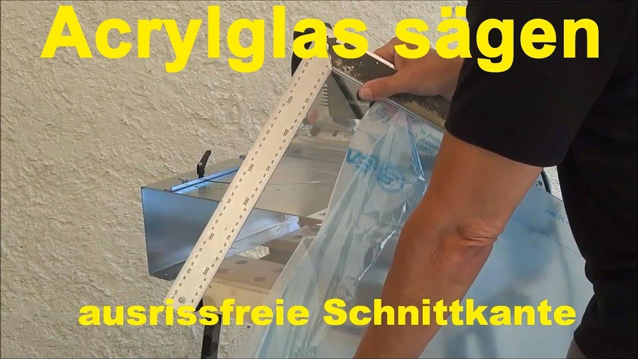 Beliebt Acrylglas Plexiglas mit der Stichsäge bis 20mm selber schneiden AQ63