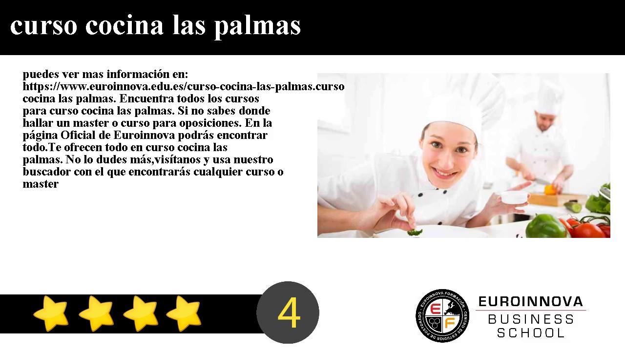 curso cocina las palmas youtube