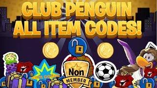 Club Penguin : All Unlockable Clothing Item, puffle hat & igloo item Codes! Always works(2016)!