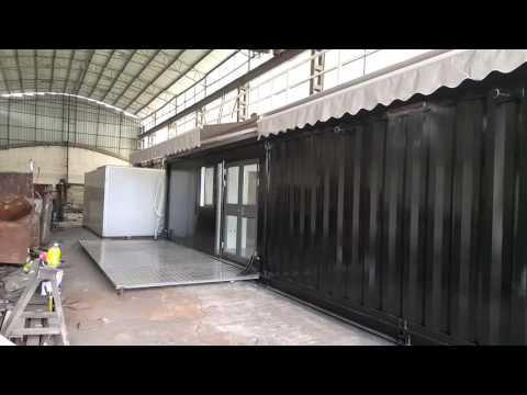 40 feet pop-up container coffee shop