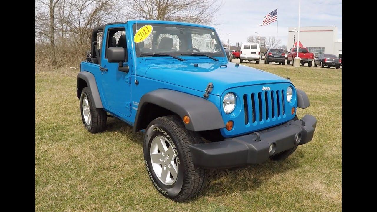 2011 Jeep Wrangler Sport Blue | Soft Top | 2 Door | Martinsville, IN Jeep  Dealer | 17661A   YouTube