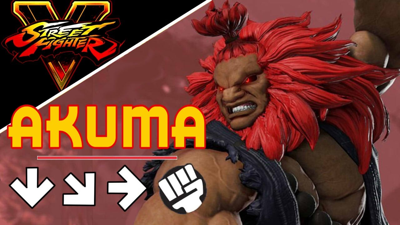 Street Fighter 5 Akuma Move List Combos Youtube