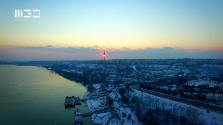 Galati, 2016 - Winter aerial view in 4k