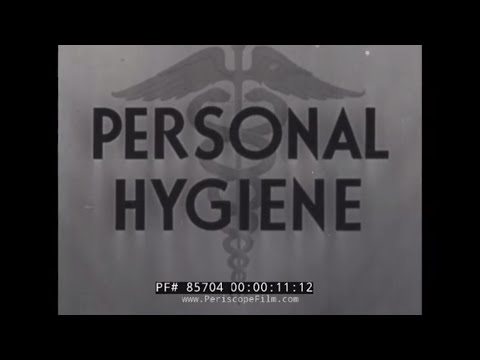PERSONAL HYGIENE FOR SOLDIERS  U.S. ARMY INDOCTRINATION & TRAINING FILM  LICE, CRABS, V.D.  85704