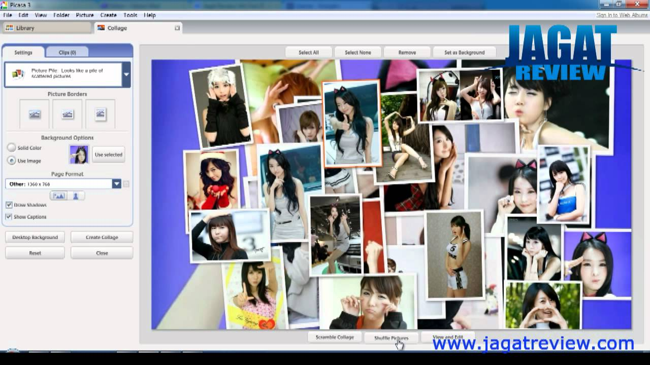 Picasa 3 Create Collage From Your Own Photos Youtube