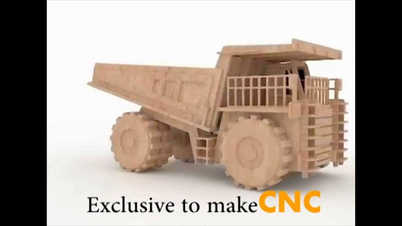 super mining dump truck wood toy plans for cnc routers and lasers