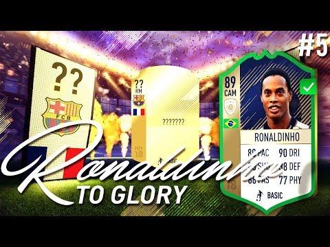 WE GOT 89 ICON DINHO!!! SERIES STARTS NOW!!! - RONALDINHO TO GLORY #5 - FIFA 18 Ultimate Team