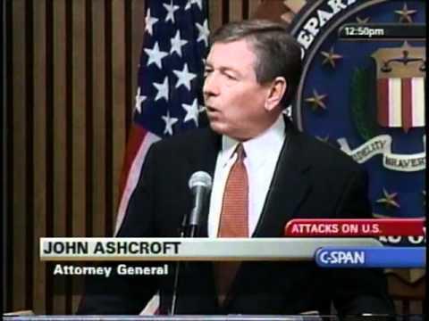John Ashcroft & Robert Mueller Press Conference - 9/13/2001