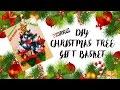 DIY Christmas Tree Gift Basket/ On a $6 Budget