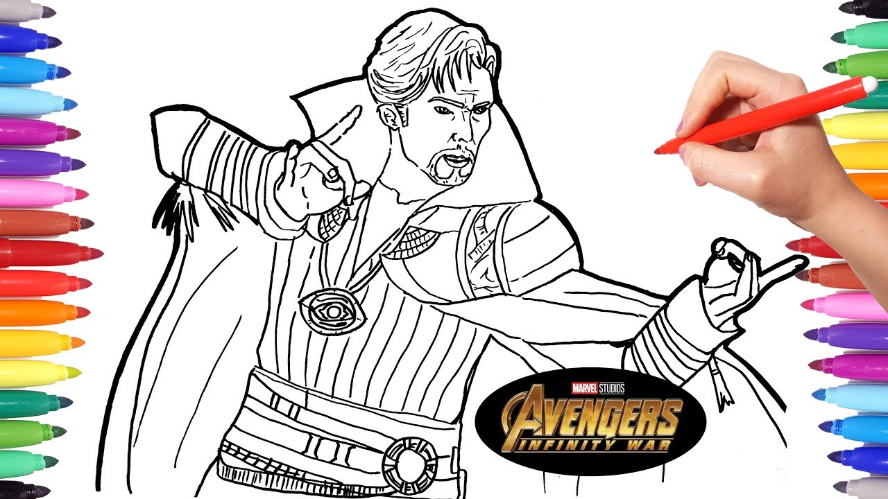 dr strange coloring pages Avengers Infinity War Doctor Strange | Avengers Coloring pages  dr strange coloring pages