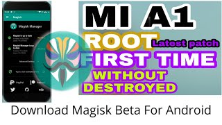 How To Root Mi A1 Device For First Time | Very Easy And Simple Method 🔥🔥🔥🔥 magisk beta version