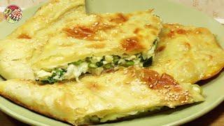 Быстрый пирог с яйцом, брынзой, зелёным луком. Просто! Вкусно! Недорого!.