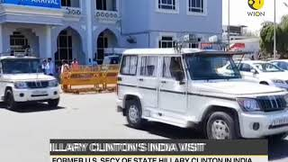 Former US Secretary of State Hillary Clinton on a private visit to India
