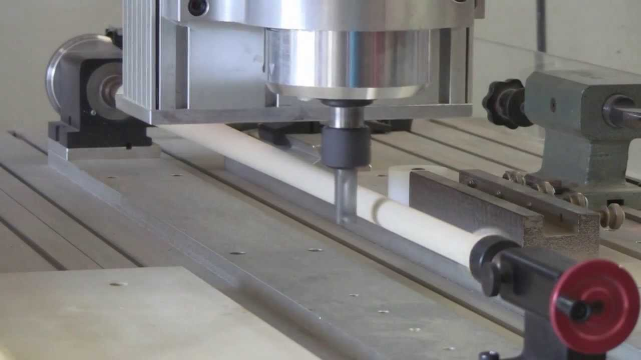 Cue Making Roughing A Shaft For A Pool Cue On A Cnc