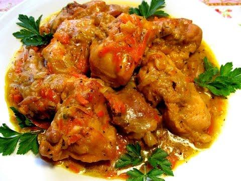 Вкусно - #КРОЛИК тушеный в сметане #Рецепт Тушеные Рецепты