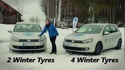 2 winter tyres vs 4 winter tyres