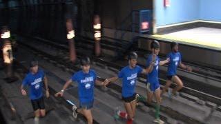 Éxito en la carrera nocturna por los túneles de Metro