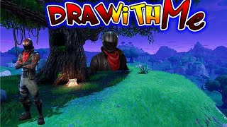 How to Draw Burnout ☆ Fortnite Battle Royale