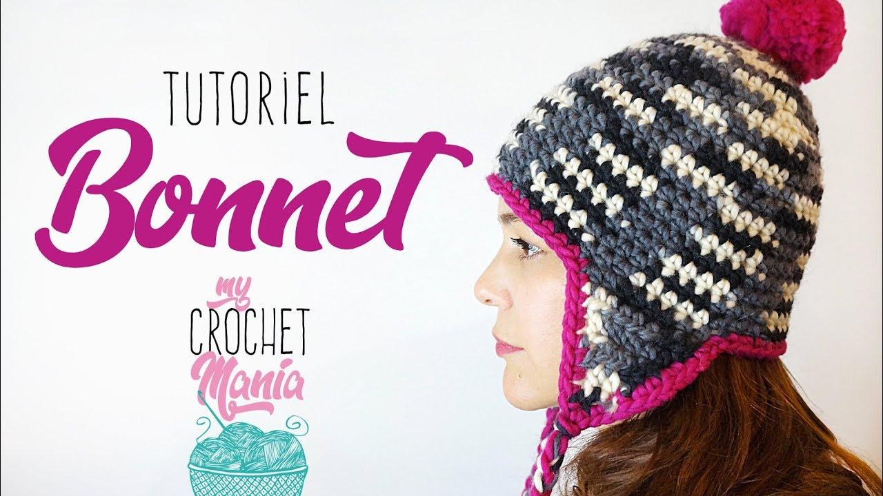 Crochet comment faire un bonnet cache oreilles youtube - Faire une augmentation en tricot ...