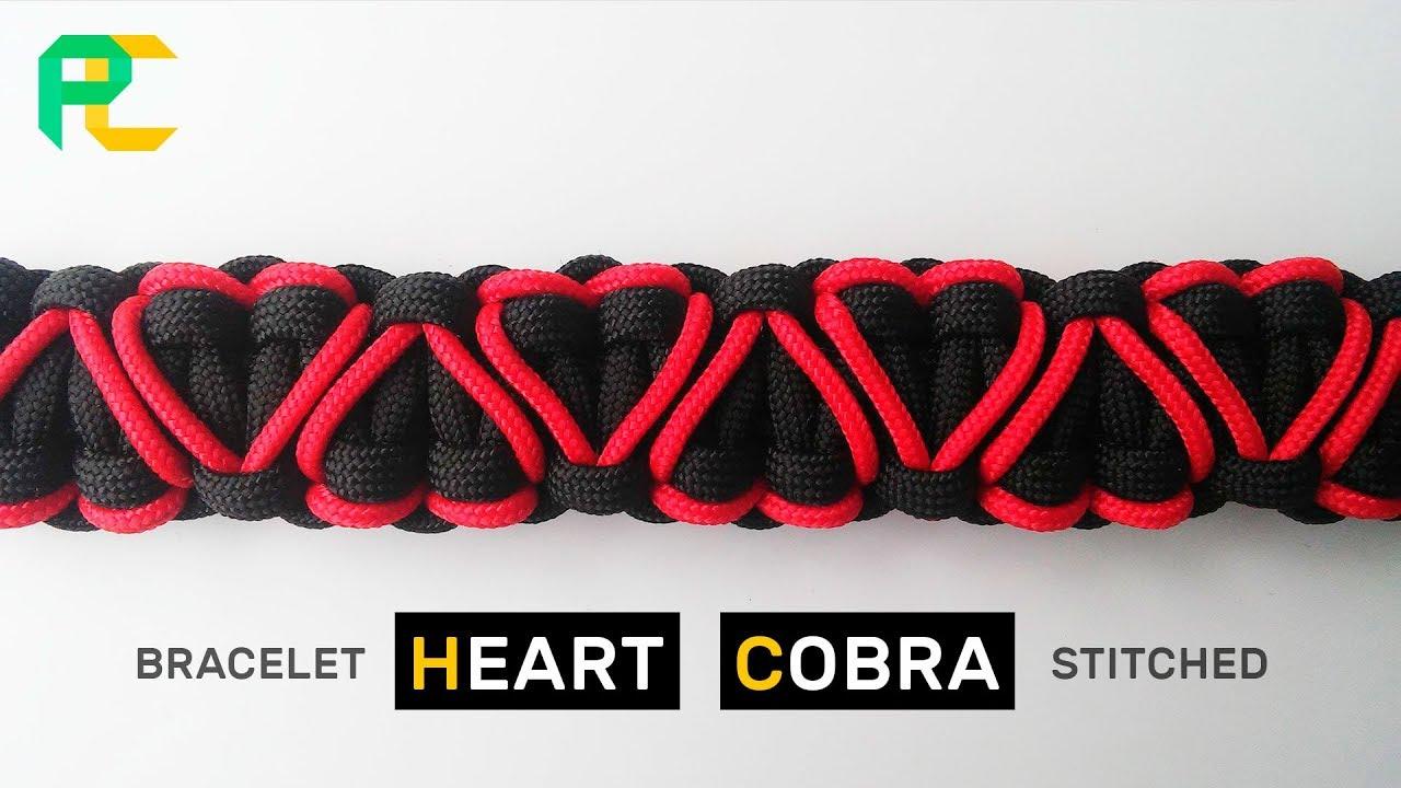 Heart Stitched Cobra Paracord Bracelet Youtube