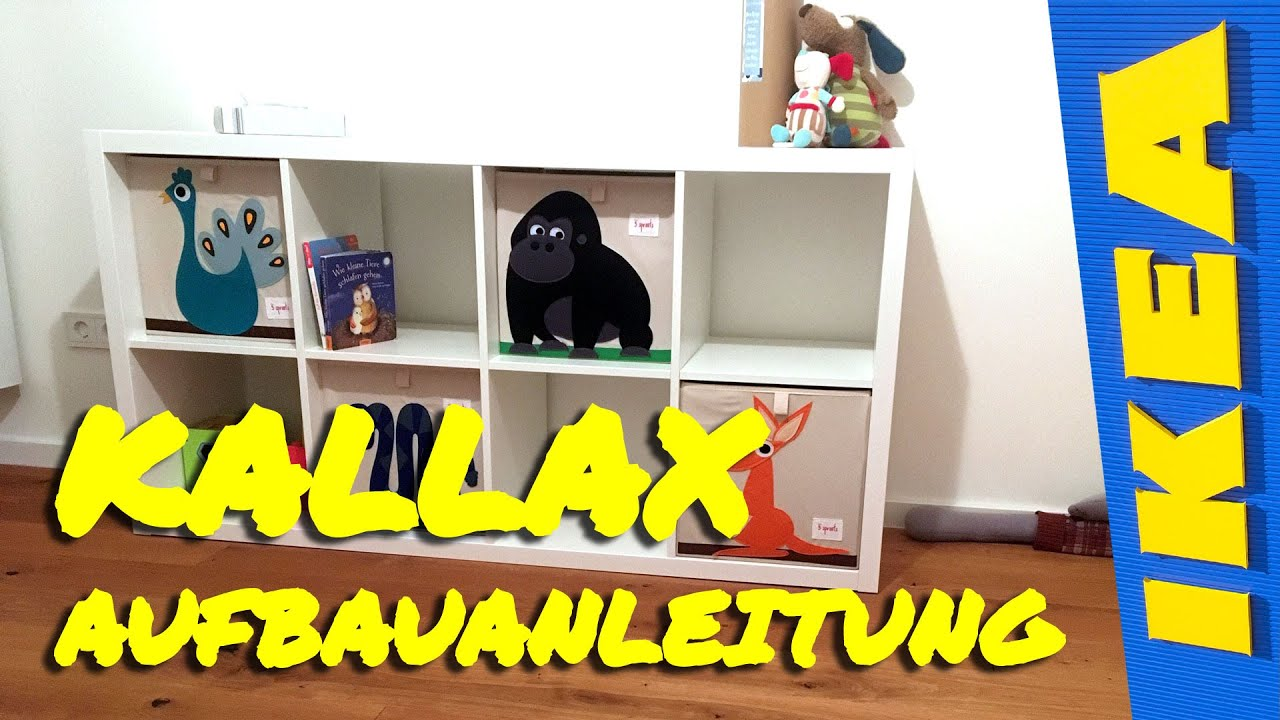 ikea kallax aufbau aufbauanleitung youtube. Black Bedroom Furniture Sets. Home Design Ideas