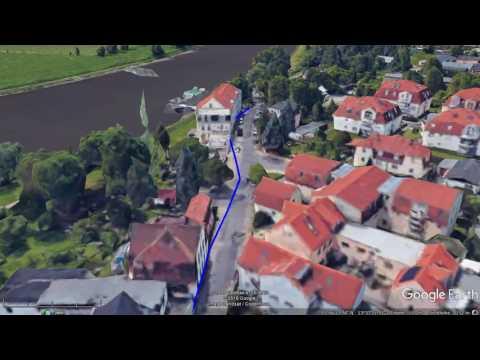 45 km Wanderung Dresden - Meißen 3D Google Earth Tour