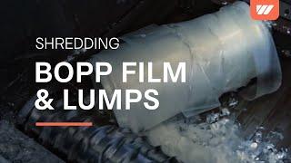 WEIMA plastic shredder Spider 1500 shreds BOPP film, cast film & lumps