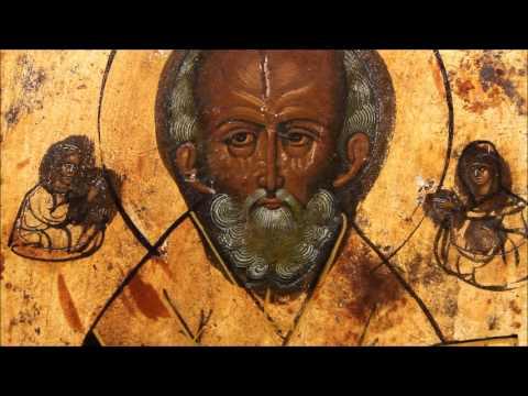 Купить икону Николая Чудотворца: икона старинная Николай Чудотворец. DR0341