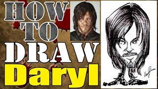How To Draw A Quick Caricature Daryl Dixon The Walking Dead