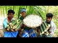 Primitive technology - BAMBOO EGG Omelette Cooking in my Village | village food taste