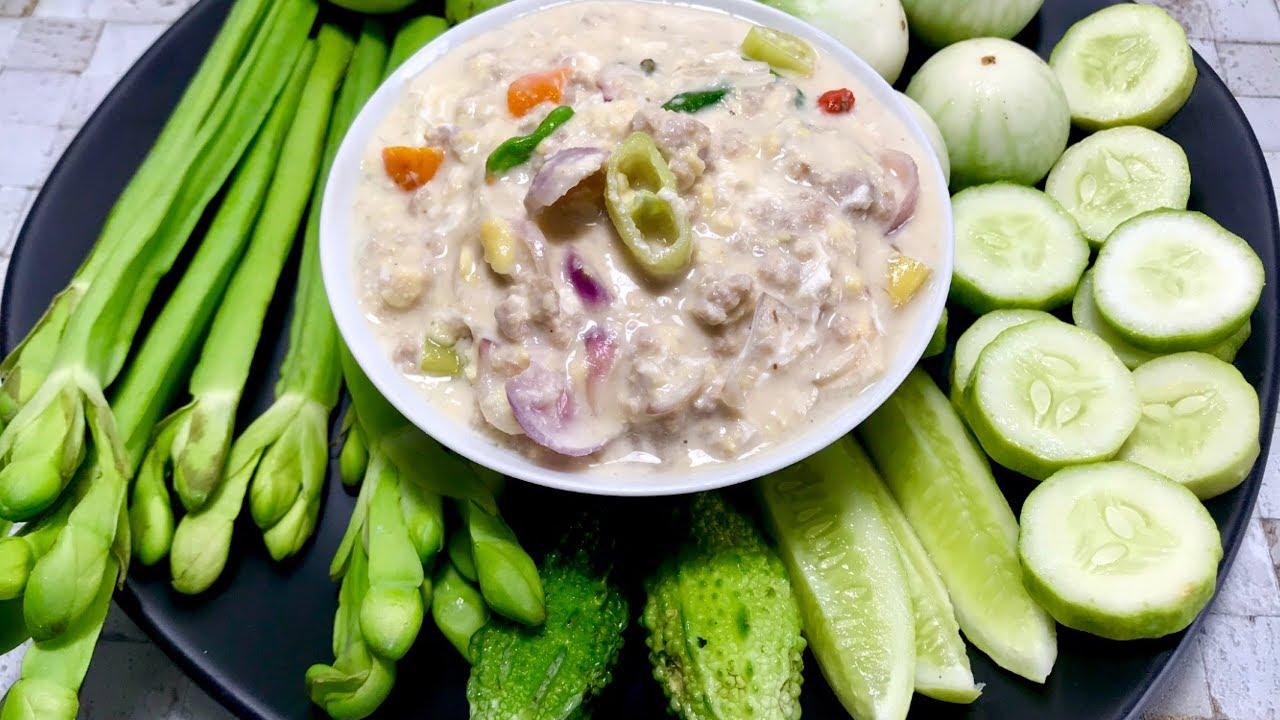 หลนเต้าเจี้ยว แบบโบราณ กินกับผักมากมายเจริญอาหารสุดๆ อยากให้ลองได้ทำกัน#หลนเต้าเจี้ยว